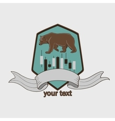 Finance forex labels logo vector