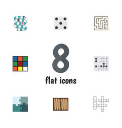 Flat icon entertainment set of cube labyrinth vector