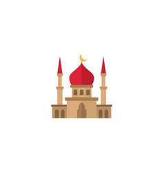 Flat mosque element of flat vector