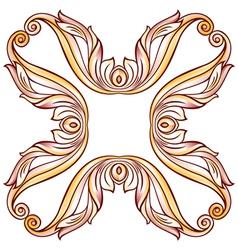 Floral cross element vector