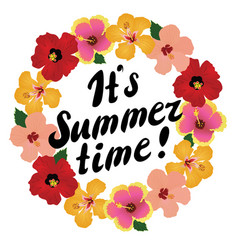 Floral its summer time vector