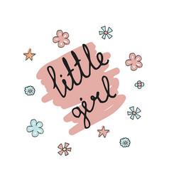 Little girl typography little girl typography vector