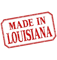 Louisiana - made in red vintage isolated label vector