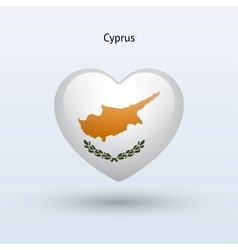 Love Cyprus symbol Heart flag icon vector image vector image