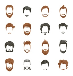 Men Hairstyle Icons Set vector image vector image