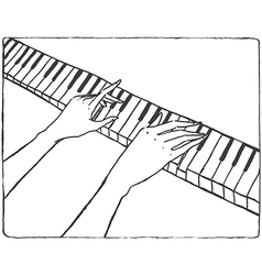 Pianist hands vector