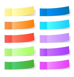 Sticky paper set vector image