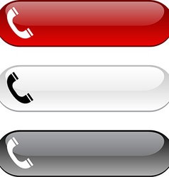 Telephone button vector