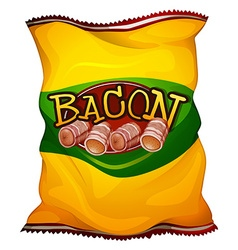 Yellow bag of bacon vector image vector image