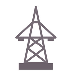 Electric pole icon electrical vector