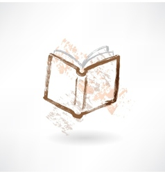 Open book grunge icon vector
