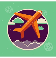 plane flight vector image