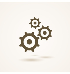 Set of three gears or cogs in different sizes vector image