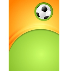Abstract waves football sport background vector image