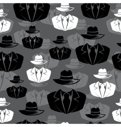 Icon spy secret agent seamless background vector