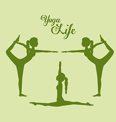 Yoga life design vector