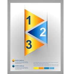 triangle infographic template vector image