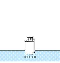 Usb drive icon flash stick sign vector