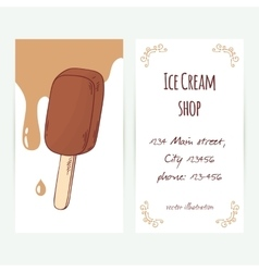 Business card template with hand drawn chocolate vector