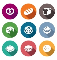 Bakery and fast food icons set vector