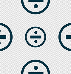 Dividing icon sign seamless abstract background vector