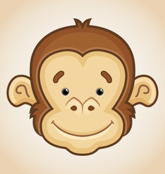 Cute monkey face vector