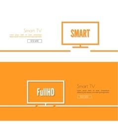 Black tv icon set vector