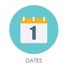 Dates flat icon vector