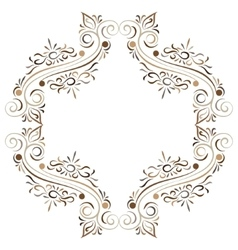 Doodle color abstract flower ornament frame vector