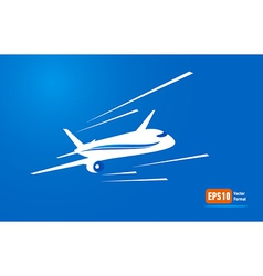 airplane flight tickets air fly blue takeoff vector image