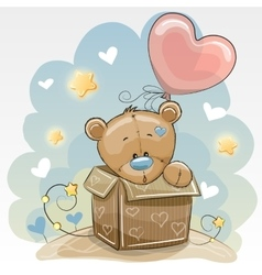 Birthday card with Cute Bear vector image