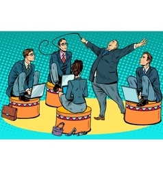 Boss businessmen trainer at the circus vector