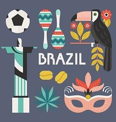 Brazil Symbols vector image vector image