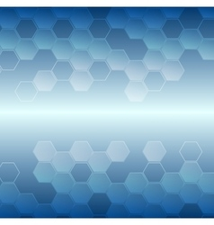 Bright blue tech geometric background vector image vector image