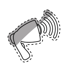 Bullhorn speaker symbol vector