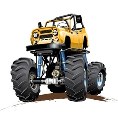 Cartoon Monster Truck one-click repaint vector image