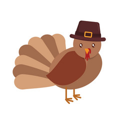 cartoon turkey icon vector image vector image