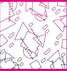 Color line geometric figures memphis style vector