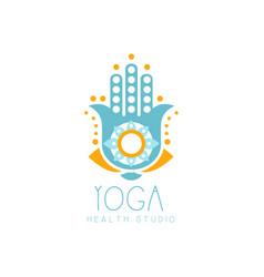 colorful creative yoga hamsa logo vector image