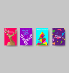 Colorful holiday christmas cover design template vector
