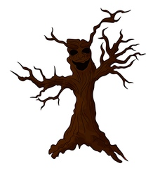 Cute monster tree vector