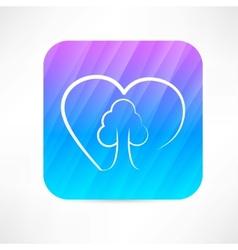 Eco love icon vector