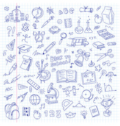freehand drawing school vector image