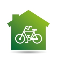 green ecology bike symbol design vector image
