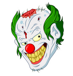 halloween clown face cartoon vector image vector image