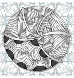 Hand-drawn doodles zentangle pattern vector image