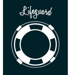 Lifeguard icon vector