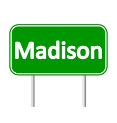 Madison green road sign vector