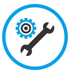 Mechanics service tools flat rounded icon vector