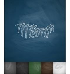 Miami icon hand drawn vector